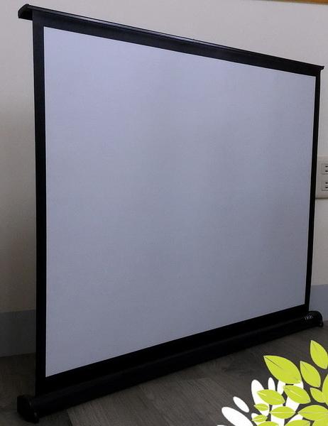 [卡瑪斯投影機銀幕]40吋4:3桌上型席白塑投影布幕 最經濟 輕巧 平整 微型商務投影幕(含稅含運)