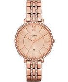 FOSSIL 羅馬風尚仕女晶鑽薄型腕錶/手錶-玫塊金 ES3546
