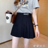 (快出)黑色牛仔半身裙女新款氣質高腰顯瘦a字百搭包臀短裙