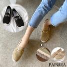 PAPORA 舒適百搭休閒時尚懶人鞋包鞋KS711黑色/卡其色