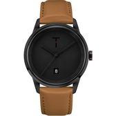 【台南 時代鐘錶 TYLOR】自由探索精神 風格多變時尚腕錶 TLAB007 皮帶 43mm