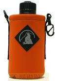 Outdoor Active OA山貓 1000CC水壺套(大) 橘 P-1000 附背帶 配件 水壺袋 適用Nalgene水壺【易遨遊】