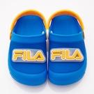 《FILA》兒童 電燈園丁涼鞋 藍橙 7-S451U-399