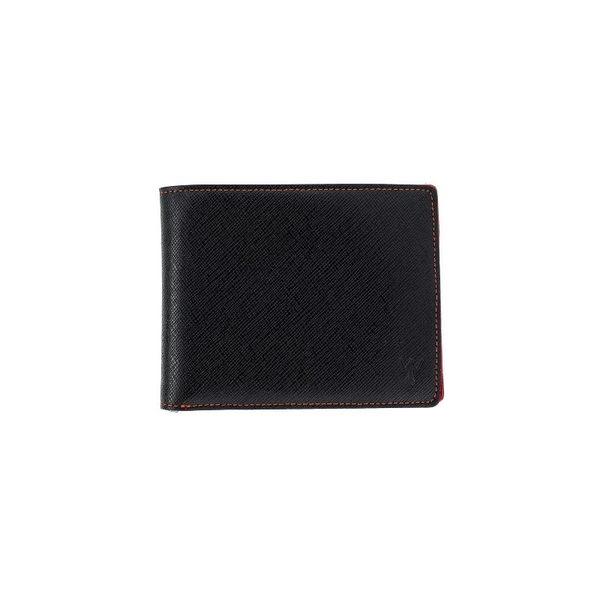 RFID防盜真皮錢包-紅色