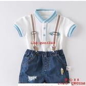 兒童T恤男夏季新款童裝男童短袖嬰兒寶寶上衣POLO衫男孩【齊心88】