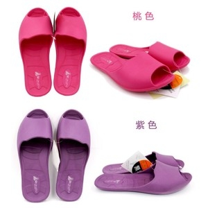 【LASSLEY】魚口環保室內拖鞋/沙灘鞋/浴室拖(防滑 廁所游泳池)紫色S(23/