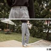 《BA4618》復古時光打褶格紋寬褲 OrangeBear
