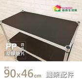收納配件| 90x46cm-塑膠透明墊片| PP板4片組 | 鐵架/儲物架/層架/置物架/鐵力士架專用【KIWISH】
