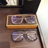 【新年鉅惠】韓版個性裝飾墨鏡男大框透明眼鏡架女方形潮素顏平光鏡近視眼鏡框