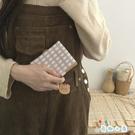 可愛日韓小熊錢包卡通女短款零錢包按扣式三折PU卡包【奇趣小屋】