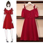 特賣款不退換M-4XL中大尺碼吊帶洋裝連身裙大碼女裝胖mm裙子胖妹妹