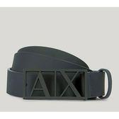 A/X  阿瑪尼Cutout牌匾皮帶(深藍色)