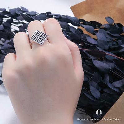 訂製窗花 晉爵戒 925純銀戒指-ART64
