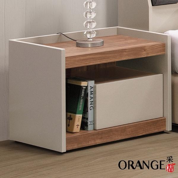 【采桔家居】拿索 現代1.8尺雙色單抽床頭櫃/收納櫃