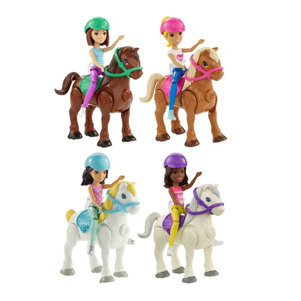 芭比 BARBIE On the Go 芭比帶著玩電動小馬