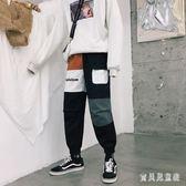 小腳工裝哈倫褲 春季新款男生百搭寬鬆韓版潮流九分休閒褲 BF22472『寶貝兒童裝』