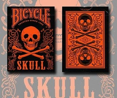 【USPCC 撲克】Bicycle orange skull playing cards