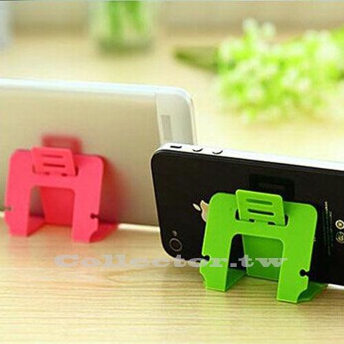 【超取399免運】糖果色名片式手機支架 可折疊卡片式支架 三檔斜度可調式支架