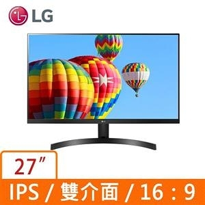 LG 樂金 27型 IPS FHD 不閃屏 螢幕顯示器 27MK600M-B