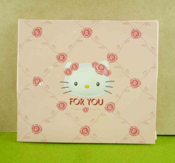 【震撼精品百貨】Hello Kitty 凱蒂貓~立體卡片-粉玫瑰