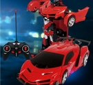 遙控變形車充電遙控車變身金剛機器人電動遙控汽車兒童玩具車【快速出貨八折搶購】