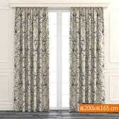 花漾緹花雙層遮光窗簾 寬200x高165cm
