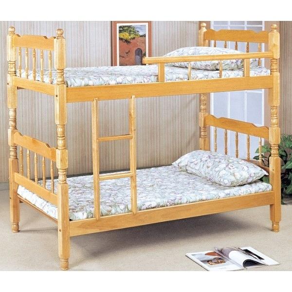 雙層床 PK-187-1 白木3尺方柱雙層床 (不含床墊) 【大眾家居舘】
