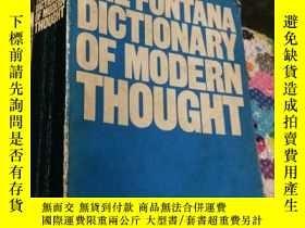 二手書博民逛書店THE罕見FONTANA DICTIONARY OF MODERN THOUGHT (平裝)Y5834 ALA
