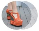厚底涼鞋 春夏新品超高跟坡跟防水臺16cm小碼魚嘴民族風14cm厚底纖維女涼鞋