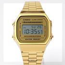 CASIO卡西歐 復古金色電子手錶【NEC16】原廠公司貨
