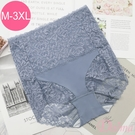 塑褲 3D立體剪裁 (M-3L) 收腹提臀超高腰包臀機能蕾絲束褲 -藍色【Daima黛瑪】