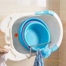 浴室置物架壁掛式可折疊免打孔洗臉盆收納架【繁星小鎮】