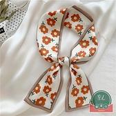 可愛領巾碎花絲帶復古小絲巾綁包包【福喜行】