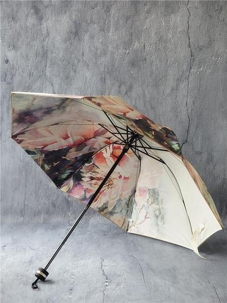傘太陽夏季雙層黑膠傘
