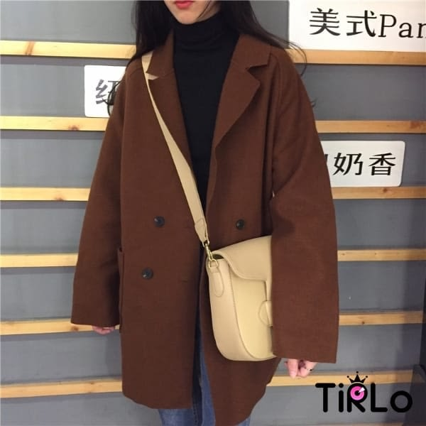 外套-Tirlo-韓版學院感寬鬆呢料外套-三色(現+追加預計5-7工作天出貨)