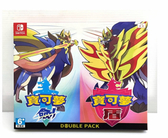 任天堂 NS 精靈寶可夢 寶可夢 劍 + 盾 中文版 雙重組合 極巨結晶X2 +行李牌