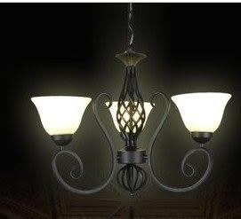 設計師美術精品館簡歐客廳吊鐵藝燈具復古燈北歐燈創意客廳燈飾歐式吊燈D307