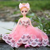 萬聖節快速出貨-洋娃娃換裝芭比娃娃套裝車載仿真洋娃娃多關節禮盒裝女孩玩具爸比公主