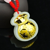 金鑲玉項鍊 和闐玉吊墜-吉祥福袋生日情人節禮物男女飾品73gf5【時尚巴黎】