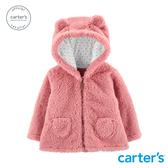 【美國 carter s】粉色毛絨連帽造型外套-台灣總代理