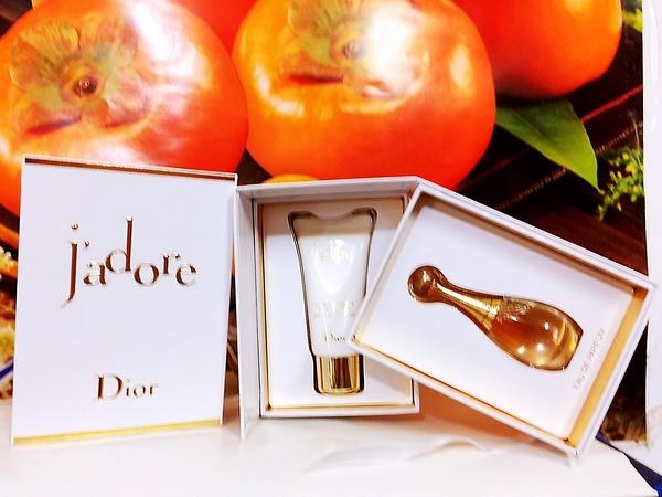 Dior迪奧 J'adore 香氛禮2件組( J' adore 香氛5ml+芬芳滋潤身體乳20ml)