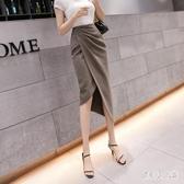 開叉半身裙 2020新款時尚氣質高腰中長款包臀不規則一步裙CH1185【俏美人大尺碼】
