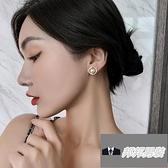 簡約冷淡風小巧耳飾女時尚旋渦珍珠耳環網美耳釘【邦邦男裝】