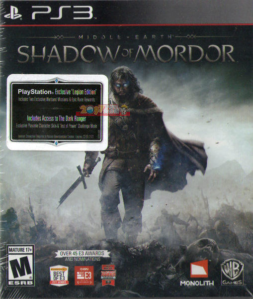 PS3 中土世界:魔多之影 軍團特別版(含2個任務+符石) -英文美版- Middle Earth: Shadow of Mordor