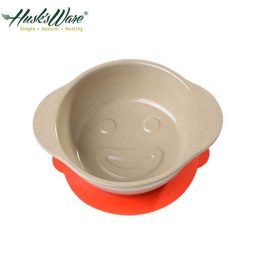 【南紡購物中心】【美國Husk's ware】稻殼天然無毒環保兒童微笑餐碗-紅色