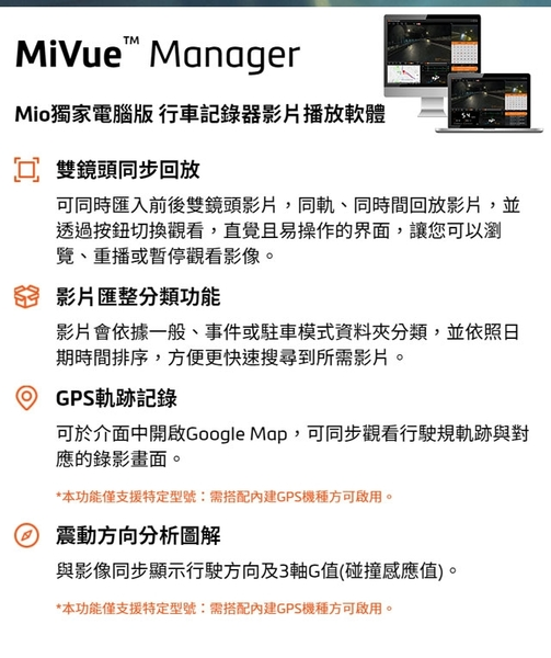 【MIO】MiVue 808D雙鏡頭星光級WiFi GPS行車記錄器*隱藏式分離式無螢幕設計+SONY星光級感光