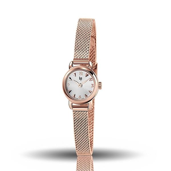 【lip】Henriette精緻小巧時尚米蘭石英腕錶-玫瑰金/671266*/台灣總代理公司貨享兩年保固