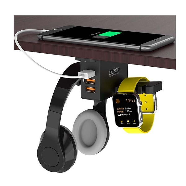 COZOO 可充電耳機架 3 Port USB Charging Station and iWatch Stand Smart Watch Charging Dock Dual [9美國直購]