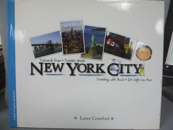 【書寶二手書T8/少年童書_JHF】Postcards from New York City/Postales desde New York City_Crawford, Laura