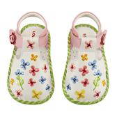【愛的世界】秘密花園寶寶鞋/學步鞋(白色)-台灣製--夏出清童鞋